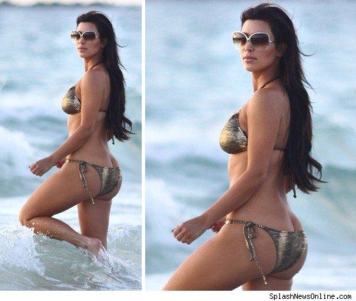 Kim Kardashian's Ass Too Big For A Bikini